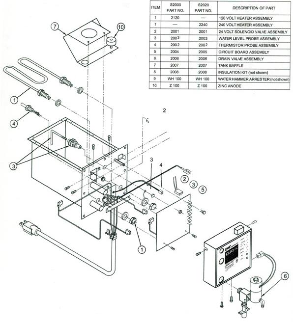 Autoflo S2020 Steam Humidifier Parts