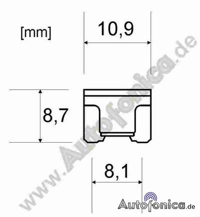 10x 15A MINI LP Car Fuse Micro Flat Fuse Low Profile Car