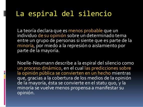 Resultado de imagen para la espiral del silencio