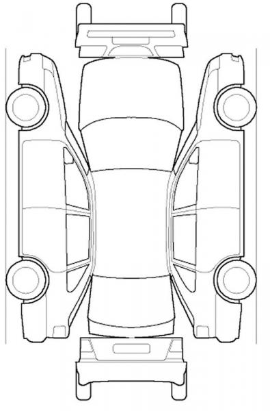 Car Damage Diagram Template Sketch Coloring Page