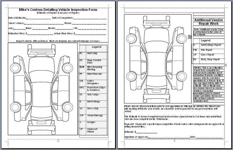 car damage inspection diagram t12 ballast wiring rental truck checklist images of