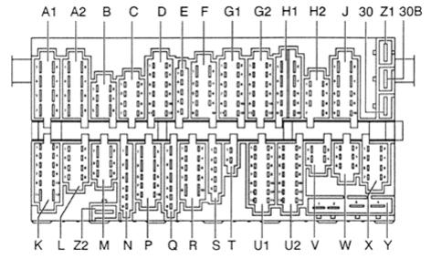 mitsubishi montero wiring diagram 2008 nissan xterra stereo volkswagen passat b4 (1993 - 1996) fuse box auto genius