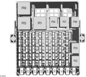 Ford BMAX (form 2012)  fuse box diagram  Auto Genius