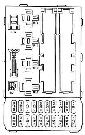 1998 ford explorer alternator wiring diagram 2003 volkswagen jetta engine contour (1996 - 2000) fuse box auto genius