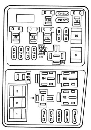 Ford Contour (1996  2000)  fuse box diagram  Auto Genius