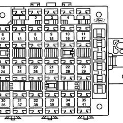 Ford Explorer Fuse Panel Diagram Clarion Xmd1 Wiring Windstar (1994 - 1998) Box Auto Genius