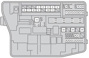 Toyota Auris (2006  2012)  fuse box diagram  Auto Genius