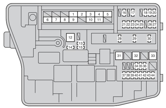 2012 toyota corolla fuse box location