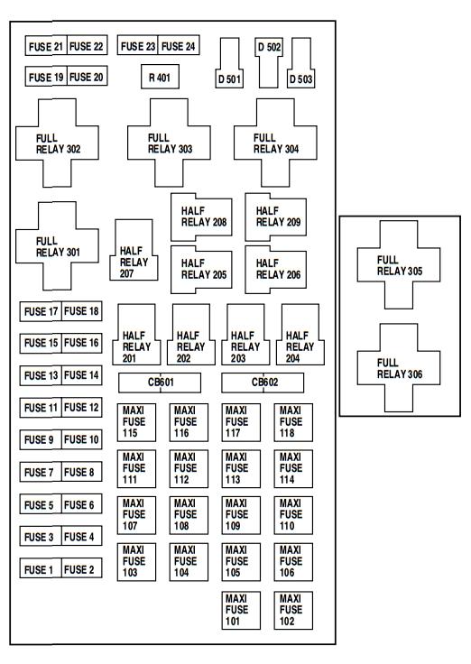 2002 ford e350 fuse box