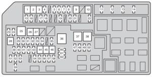 Toyota Land Cruiser 150 (2012)  fuse box diagram  Auto