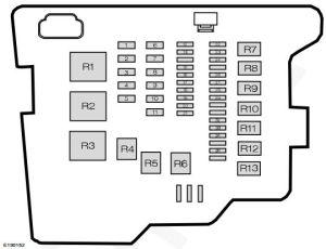 Ford Fiesta (from 2011)  fuse box diagram (India version)  Auto Genius