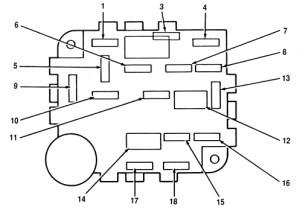 Lincoln Mark VIII (1996  1998)  fuse box diagram  Auto