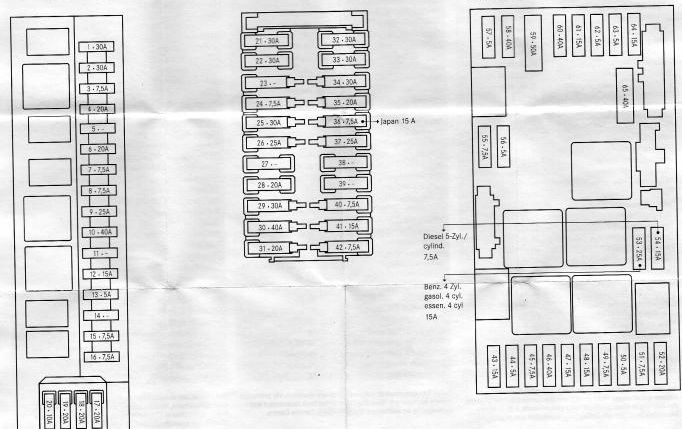 2002 mercedes c240 fuse box diagram
