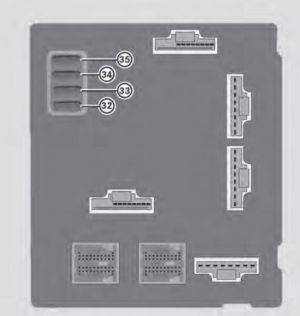 Smart Fortwo (2013) coupe and cabriolet  fuse box diagram
