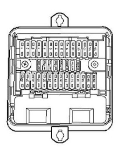 mazda 323f fuse box diagram