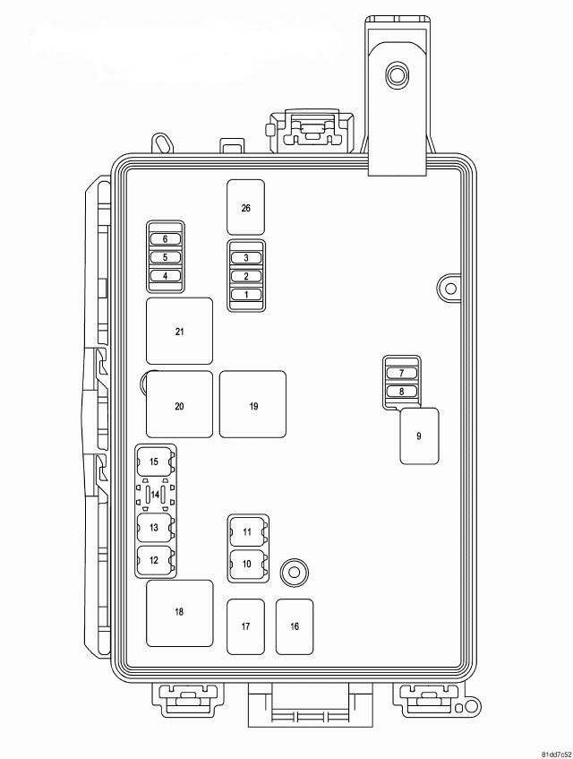 dodge charger rear fuse box diagram
