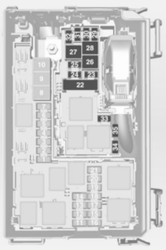 schematic vauxhall meriva b (2010 - 2011) - fuse box diagram - auto  genius
