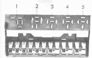 Volkswagen Beetle (1954  1979 all models)  fuse box