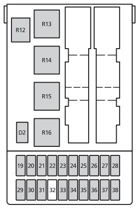 2002 mercury cougar engine diagram ge spacemaker microwave parts (1999 - 2002) fuse box auto genius
