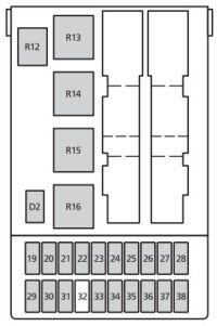 Mercury Cougar (1999 - 2002) - fuse box diagram - Auto Genius