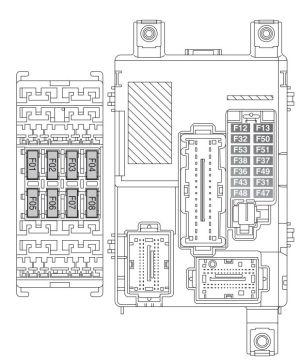 Fiat Doblo Panorama (od 2014 roku)  bezpiecznik schemat
