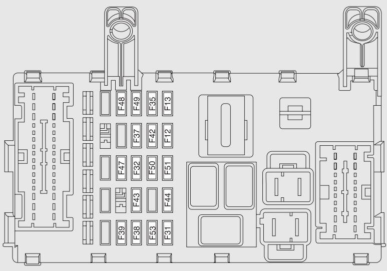 fiat punto evo dashboard fuse box