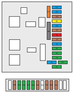 Peugeot 607 (2009)  fuse box diagram  Auto Genius