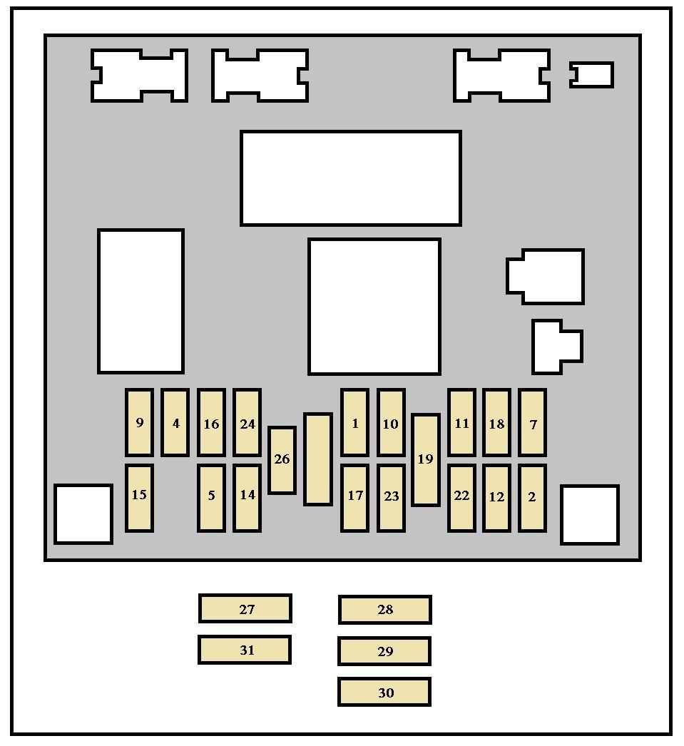 peugeot 307 cc 2004 - fuse box diagram