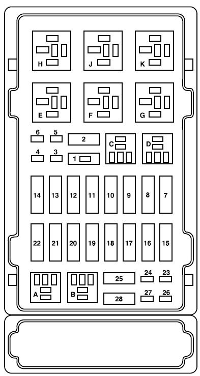 under hood fuse box diagram 2007 ford e350