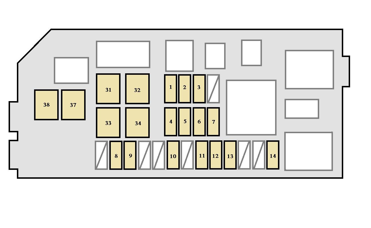 4runner fuse panel diagram