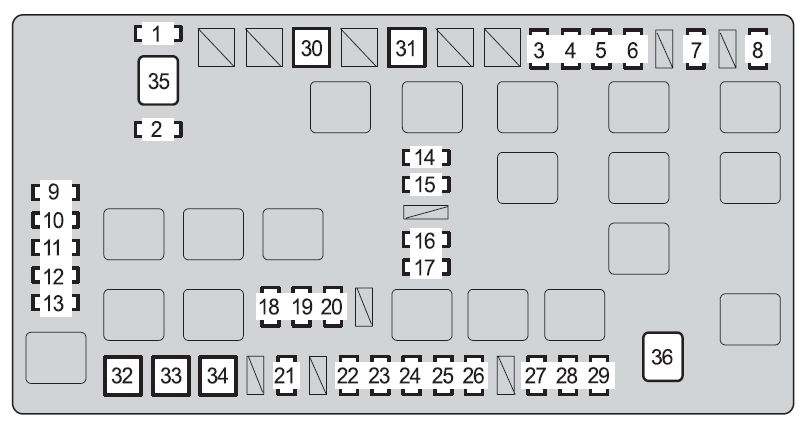 fj cruiser fuse boxes auto electrical wiring diagram Toyota Fuse Box Diagram fj cruiser fuse boxes