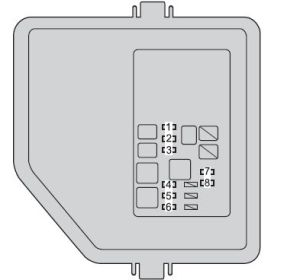 Toyota Camry Hybrid (from 2012)  fuse box diagram  Auto