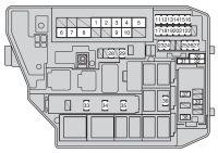 Toyota Corolla (2009 - 2012) - fuse box diagram - Auto Genius