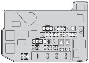 Toyota Prius (XW30; 2010) – fuse box diagram  Auto Genius