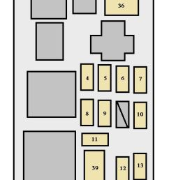 toyota sienna first generation mk1 xl10 1998 fuse box diagram [ 582 x 1422 Pixel ]