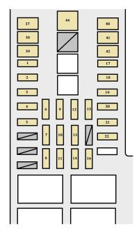 Toyota Tundra (2003 - 2004) - fuse box diagram - Auto Genius