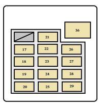 Toyota Tundra (2001 - 2002) - fuse box diagram - Auto Genius