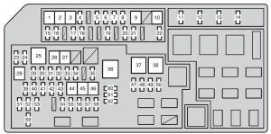 Toyota Land Cruiser Prado (from 2011)  fuse box diagram  Auto Genius