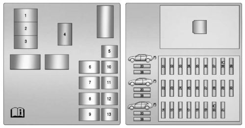 small resolution of cadillac cts 2011 2014 fuse box diagram auto genius fuse box cadillac cts 2005 fuse box