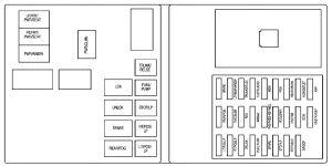 Cadillac CTS (2008)  fuse box diagram  Auto Genius