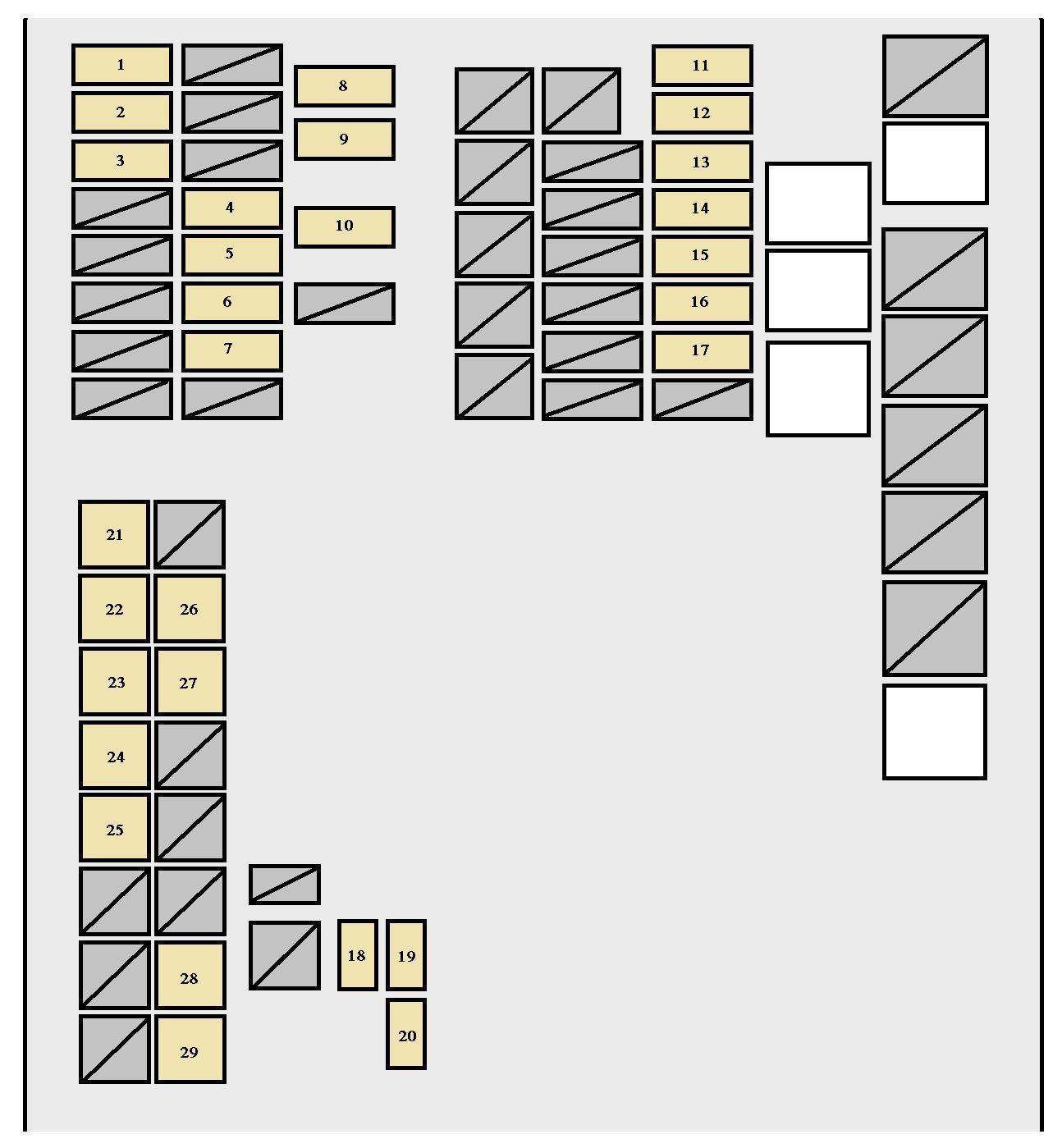 2009 scion xb wiring diagram ge motor 2007 2011 fuse box auto genius