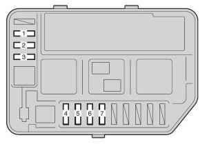 Toyota Yaris Hatchback (2011)  fuse box diagram  Auto Genius