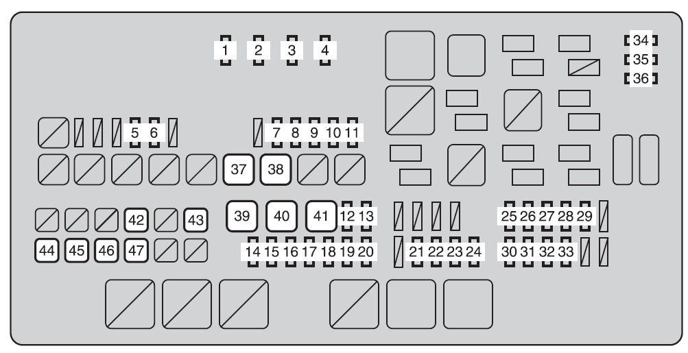 2014 Toyota Tundra Under Hoo Fuse Box Diagram : 45 Wiring