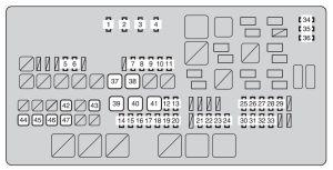 Toyota Tundra (from 2013)  fuse box diagram  Auto Genius