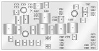 Cadillac SRX (2010 - 2011) - fuse box diagram - Auto Genius