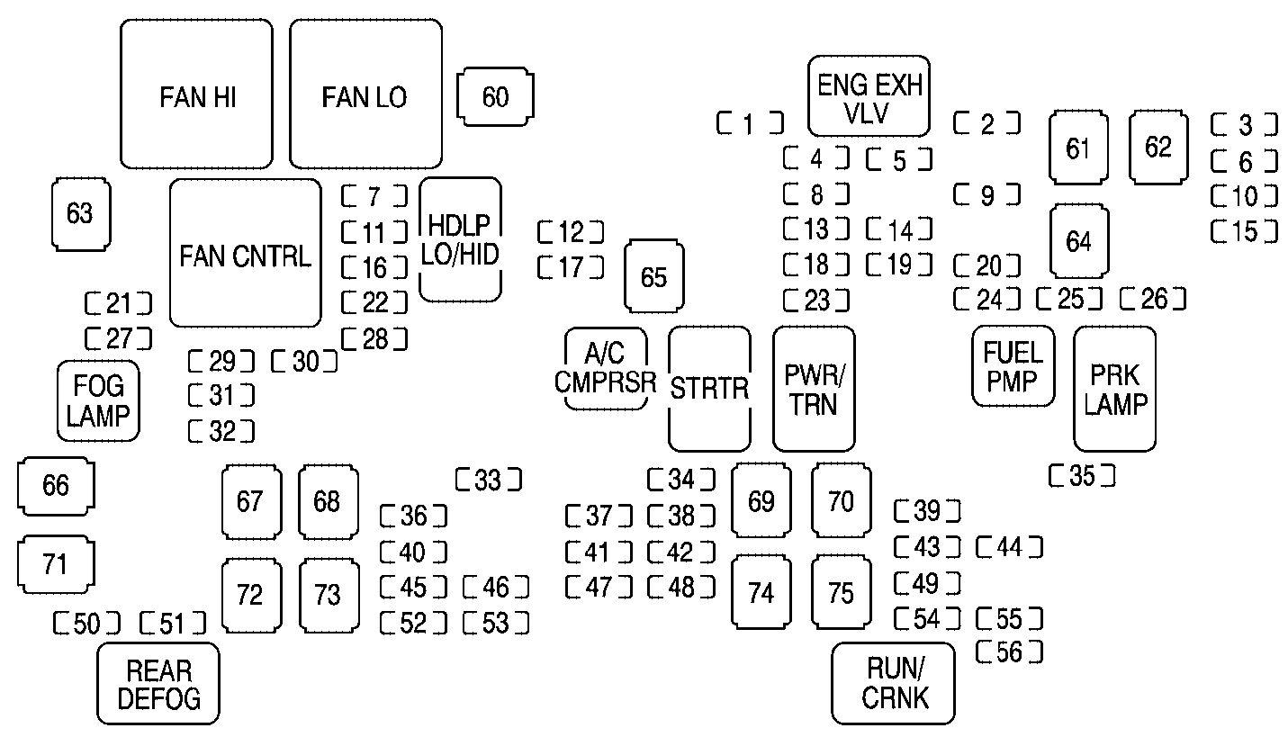 2003 cadillac escalade fuse panel diagram