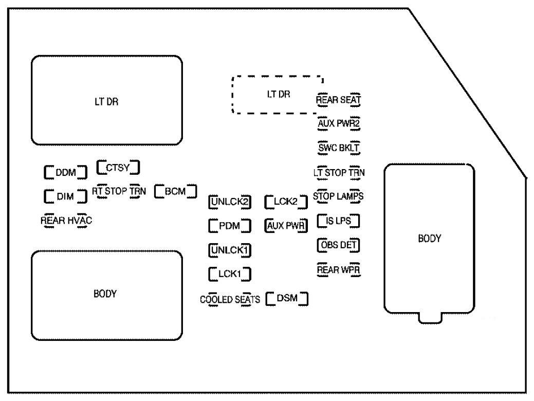 cadillac escalade fuse panel diagram