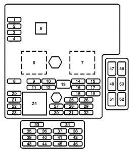 2007 Cadillac Dts Fuse Box Diagram 2007 Cadillac DTS