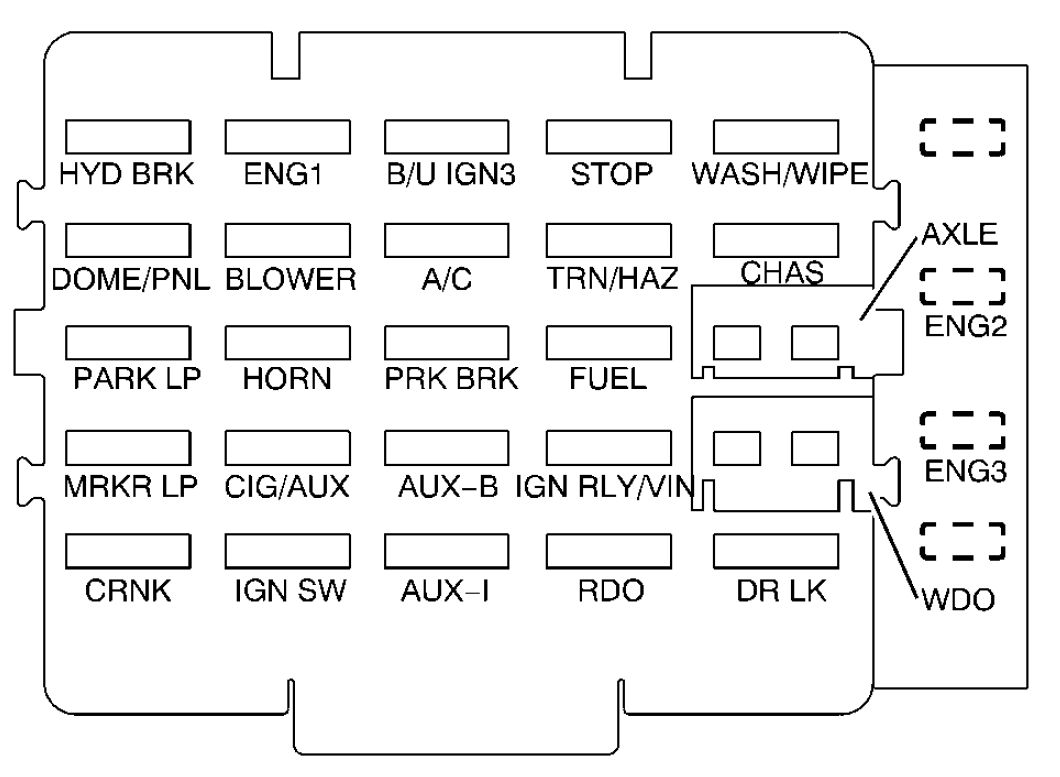 hight resolution of 2000 gmc c6500 fuse box diagram