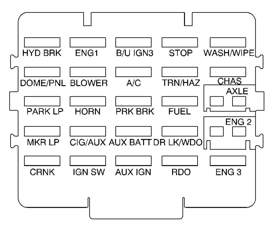 3 1l Engine Fuel Flow Diagram Gmc C Series Mk2 Second Generation 2001 2002 Fuse